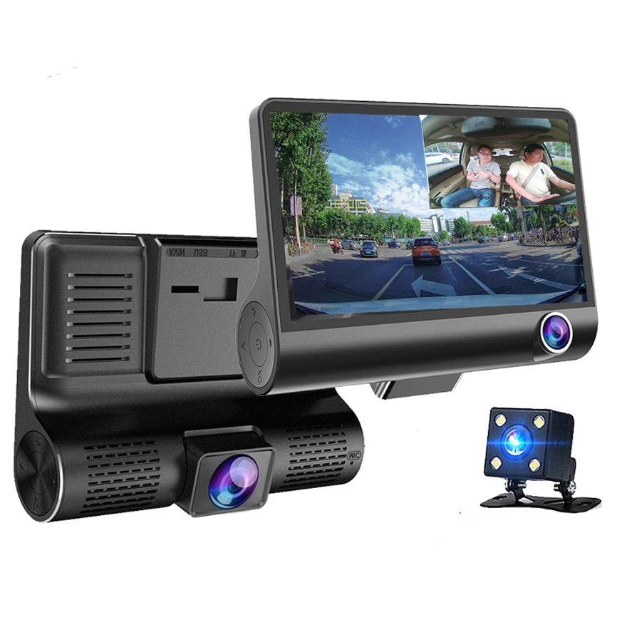 Car Dash Camera 3 Lens 1080P